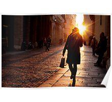 Pedestrians in Vicenza Poster