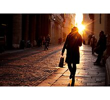 Pedestrians in Vicenza Photographic Print
