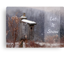 Let It Snow - Greeting Card Canvas Print