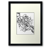 Gloopy Swoosh - Pencil Art with YouTube Time-Lapse Framed Print