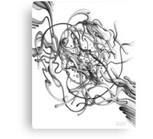 Gloopy Swoosh - Pencil Art with YouTube Time-Lapse Canvas Print