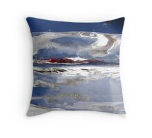 Abstract ice landscape  Throw Pillow