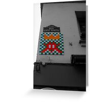 Space Invader 4 Greeting Card