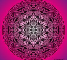 Mandala Drawing 25 PINK Prints, Cards & Posters by mandala-jim