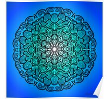 Mandala Drawing 21 BLUE Prints, Cards & Posters Poster