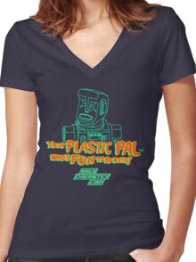 Your Plastic Pal Who's Fun To Be With! Women's Fitted V-Neck T-Shirt