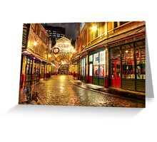 Rainy December - Leadenhall Market Series - London - HDR Greeting Card