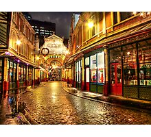 Rainy December - Leadenhall Market Series - London - HDR Photographic Print