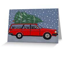 Volvo Cats Christmas Tree Greeting Card