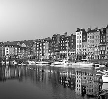 Honfleur Harbour 3, Normandy, France by Bob Culshaw
