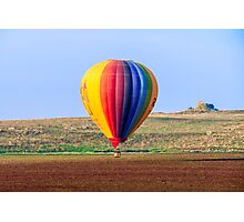 inflated Hot air balloon. Photographed in israel Photographic Print