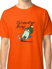 Scooter Boy Old Skool riding Classic T-Shirt