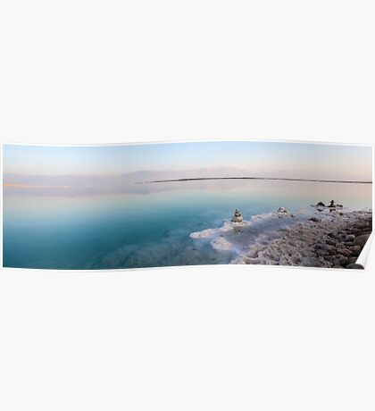 Israel, Dead Sea, salt crystalization caused by water evaporation Poster