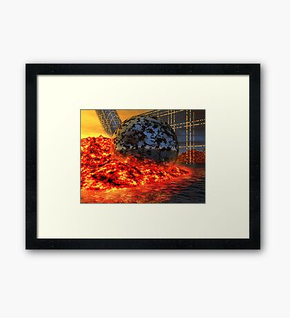 Fire and Steel - A Fantasy Framed Print
