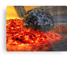 Fire and Steel - A Fantasy Metal Print