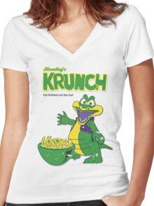 Kremling's Krunch Cereal Women's Fitted V-Neck T-Shirt