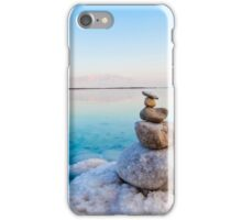 Israel, Dead Sea, salt crystalization caused by water evaporation iPhone Case/Skin