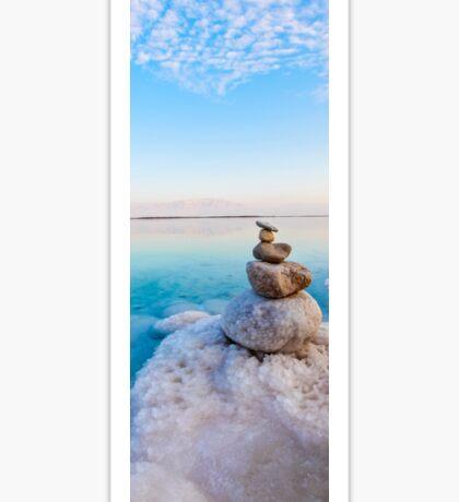 Israel, Dead Sea, salt crystalization caused by water evaporation Sticker
