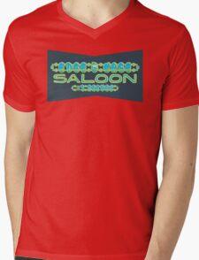 Edge Case Saloon Mens V-Neck T-Shirt