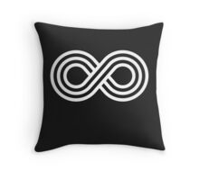 Infinite Wisdom - Infinity Symbol - White Throw Pillow