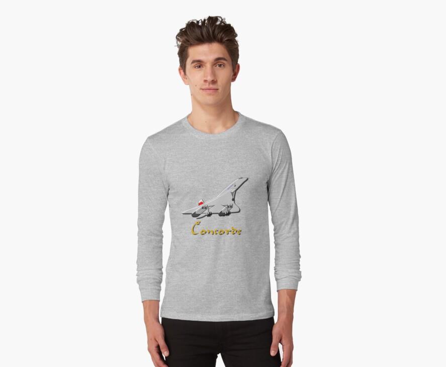 Concorde T-shirt, etc.  design by Dennis Melling
