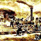 Stephenson's Rocket Steam Locomotive by Dennis Melling