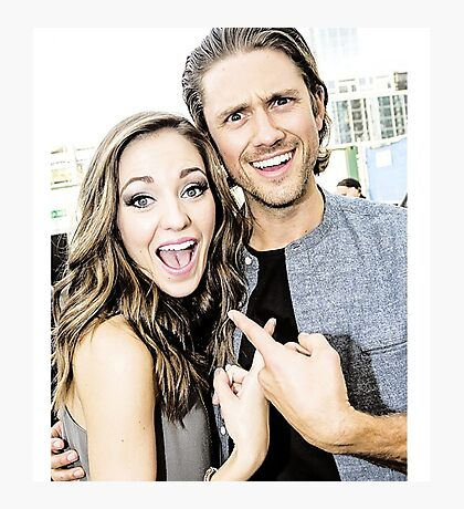 Aaron Tveit and Laura Osnes Photographic Print