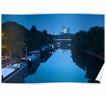Houseboats on the Seine in Paris Poster