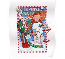 Elf & Snowman's Surprise for Santa Poster