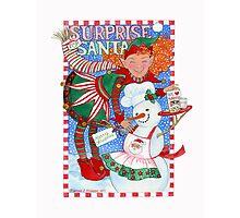 Elf & Snowman's Surprise for Santa Photographic Print