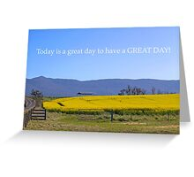 A Great Day Greeting Card
