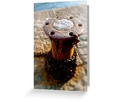 cobbled quay Greeting Card