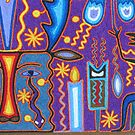 Huichol Art with yarn/Puerto Vallarta, Mexico - Arte Huichol con hilo by PtoVallartaMex