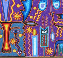 Huichol Art with yarn/Puerto Vallarta, Mexico - Arte Huichol con hilo by PtoVallartaMex
