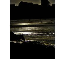 seaside silhouette Photographic Print