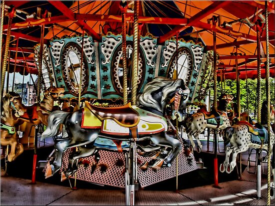 Carousel in Boston. by Lee d'Entremont