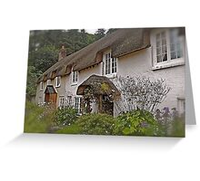 Chocolate box cottages Greeting Card