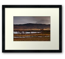 Stormy weather at Loch Ba Framed Print