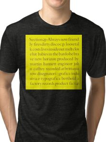 Section 25 - Always Now Tri-blend T-Shirt