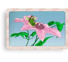 Fairy tending flowers Canvas Print