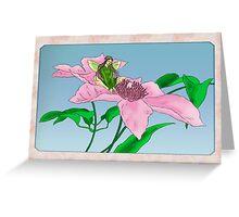 Fairy tending flowers Greeting Card