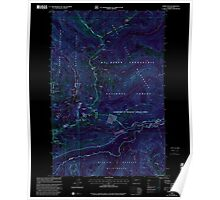 USGS Topo Map Washington State WA Norse Peak 242851 2000 24000 Inverted Poster