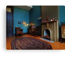 A Typical Sitting Room Canvas Print