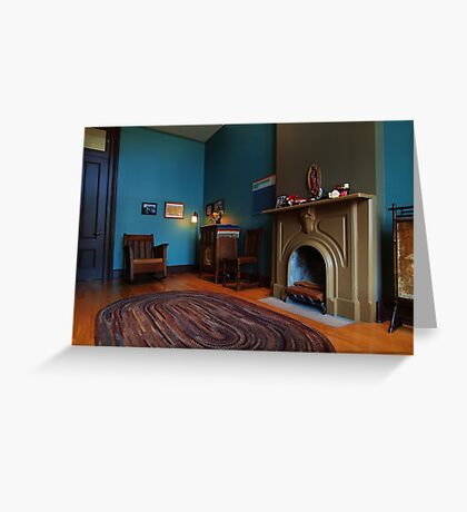 A Typical Sitting Room Greeting Card