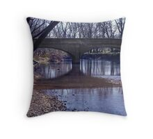 Swann Mill Bridge Throw Pillow