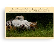 ~ Tender Touch ~ a collaboration with Jeff Weymier Canvas Print