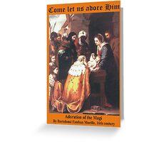 Bartolomé Esteban Murillo's Adoration of the Magi Greeting Card