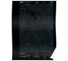 USGS Topo Map Washington State WA Tiptop 20110601 TM Inverted Poster