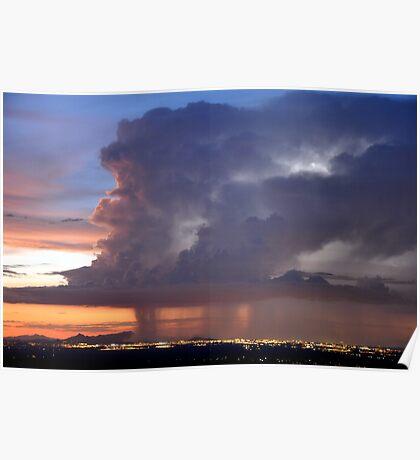 Thunderstorm over Tucson Poster