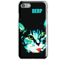 Derp Face Kitty (captioned) iPhone Case/Skin